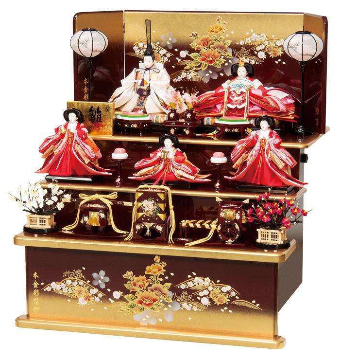 雛人形 平安豊久 三段飾り 穂波 ひな人形 303848