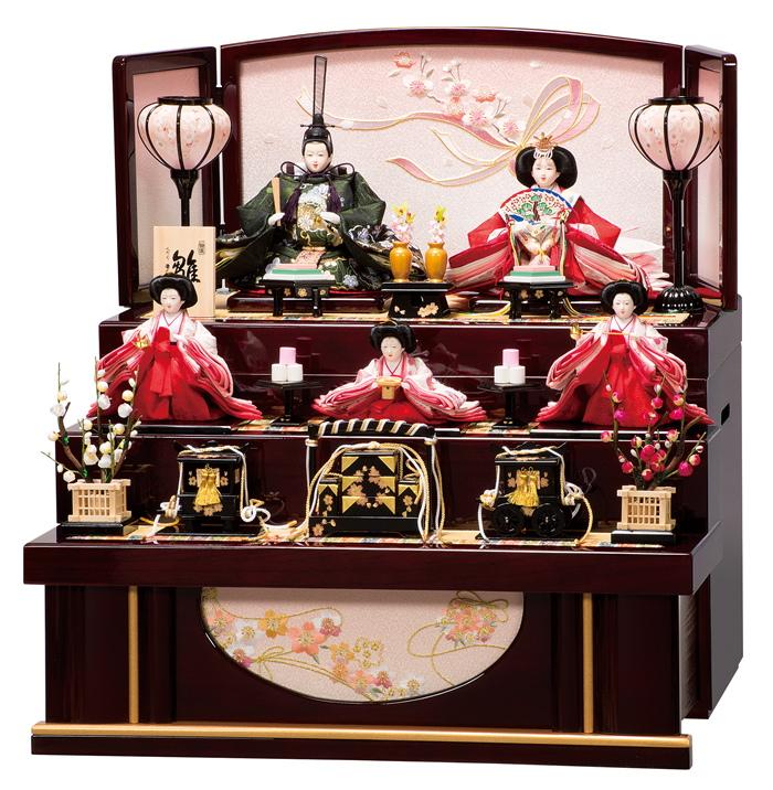 雛人形 平安豊久 コンパクト 収納飾り 詩織 ひな人形 303865