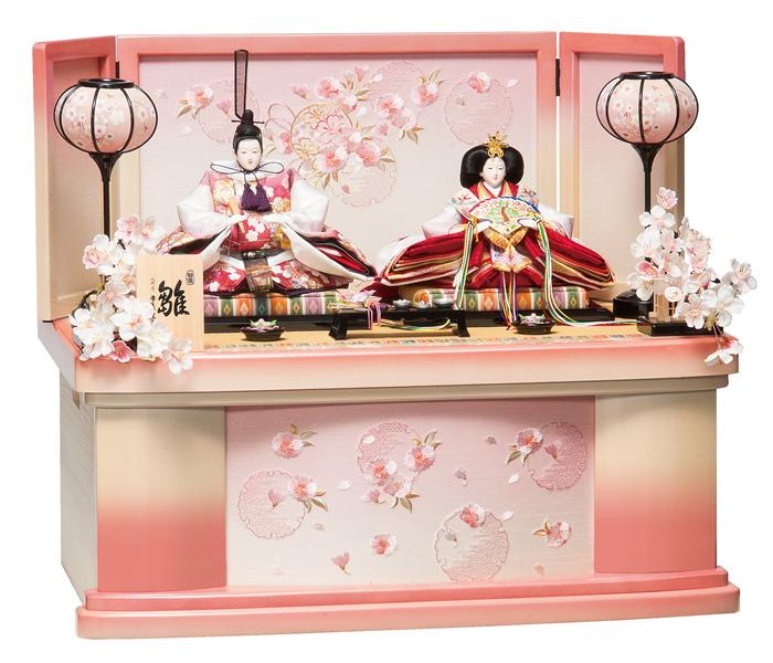 平安豊久 コンパクト 収納飾り かな ひな人形 304940