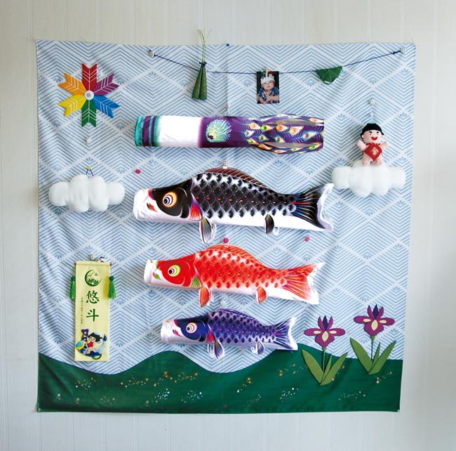 【こいのぼり】キャンバス鯉のぼり 集 星歌友禅【徳永 鯉のぼり】