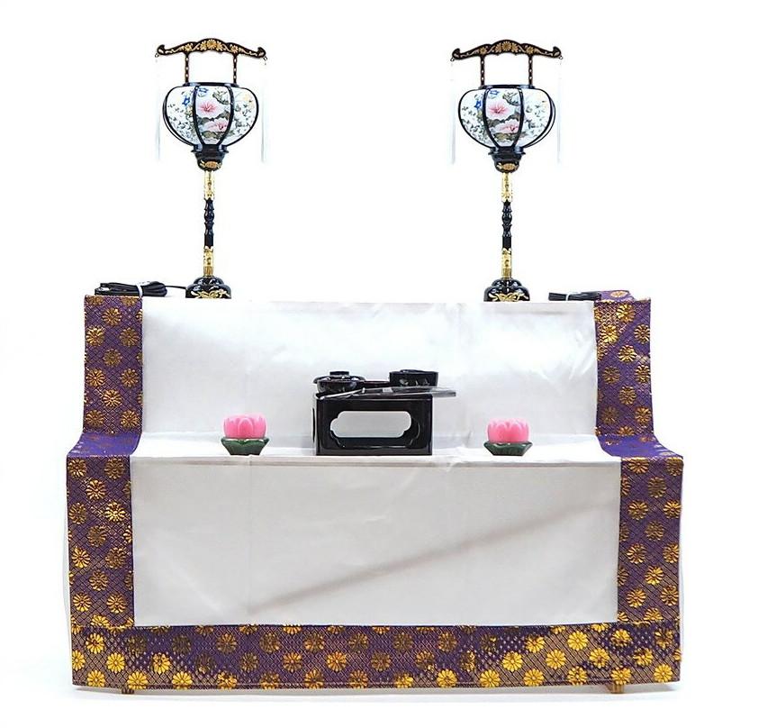 新盆 祭壇セット 木製 二段B お盆セット・盆棚セット・精霊棚