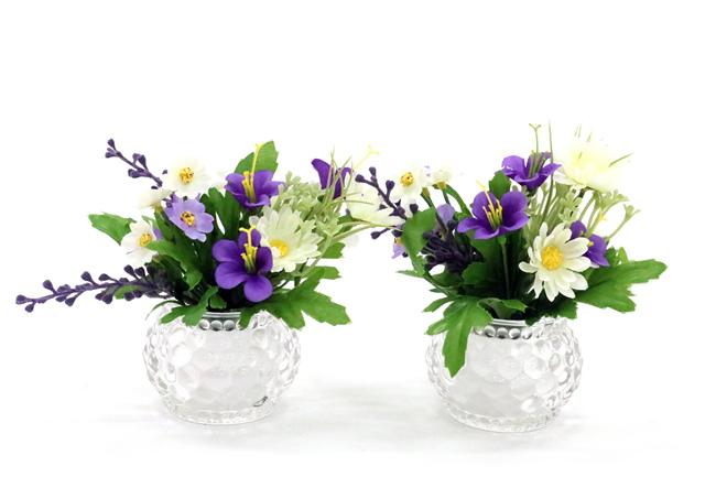 お盆の必需品 お盆セール 造花 セール 特集 仏花 プチグラス 店舗 一対 初盆 お盆 新盆