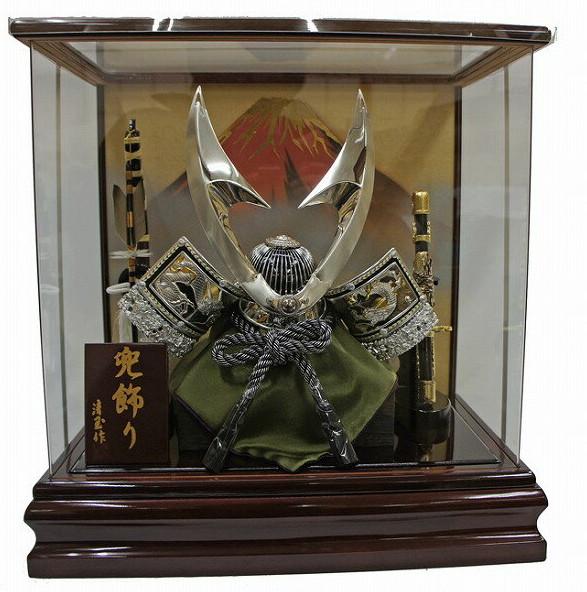 五月人形 ケース飾り 銀龍
