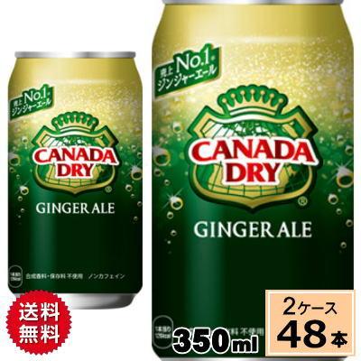 カナダドライ ジンジャーエール 350ml缶 送料無料 合計 48 本(24本×2ケース)炭酸水 炭酸 ソーダ ジュース スパークリング まとめ買い