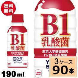 ヨーグルスタンド B-1乳酸菌 PET 190ml 送料無料 合計 90 本(30本×3ケース)11 19-B1乳酸菌 ヨーグルト 免疫活性 免疫力向上 整腸作用 腸内活動 プレーン