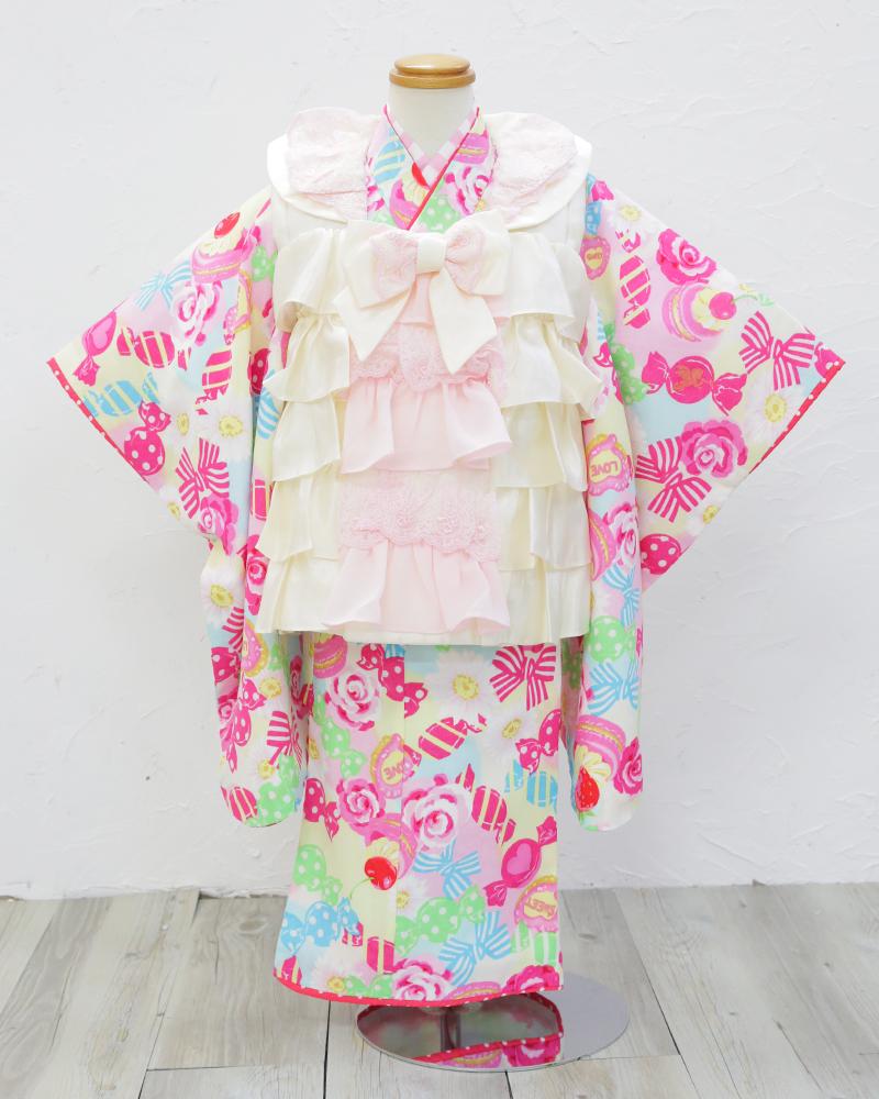 被布セット〔販売商品〕〔3歳用〕〔3歳女児〕〔被布〕〔6点セット〕〔中古〕〔USED〕〔激安〕〔格安〕〔赤〕〔SEIKO MATSUDA〕
