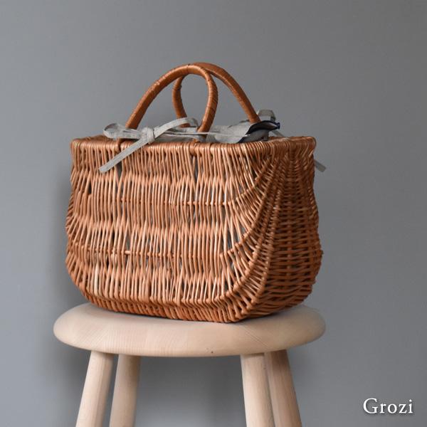 Grozi[グロッジ]ハンドメイド ショッピングバスケット M かごバッグ
