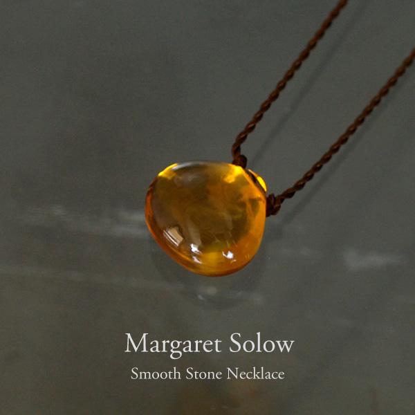 Margaret Solow[マーガレット・ソロウ]Smooth Stone Necklace シトリン