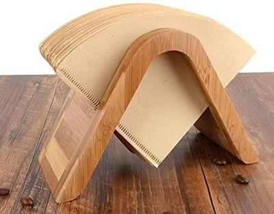 【フィルタースタンド】 竹コーヒーフィルターホルダー 円錐型 コーヒー用紙スタンド 竹製品 収納 茶色