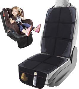 収納ポケット付き チャイルドシート 保護マット 車 シートカバー 座席保護 当店限定販売 シートプロテクター 滑り止め 付与 ブラック