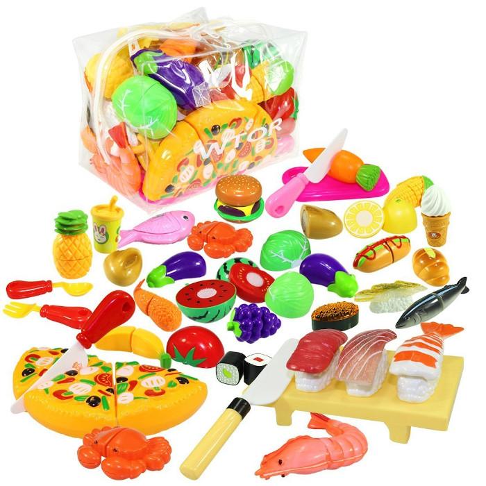 おままごと 寿司 野菜 果物 ハンバーグ キッチン 数量は多 お料理 収納バッグ付き 39点 プレゼント 女の子 ギフト 楽しい おもちゃ 激安 誕生日 セット 男の子