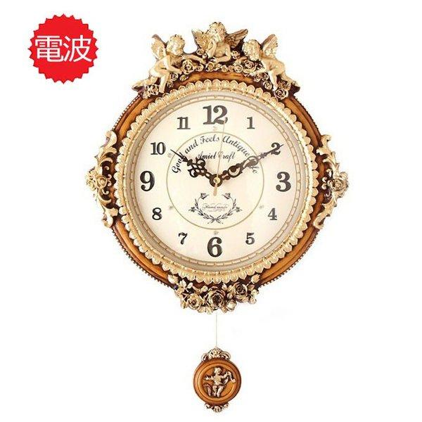 掛け時計 ゴールデンエンジェルラウンドb 壁掛け時計 おしゃれ 電波時計 掛時計 北欧 時計 インテリア 振り子時計 韓国 インテリア