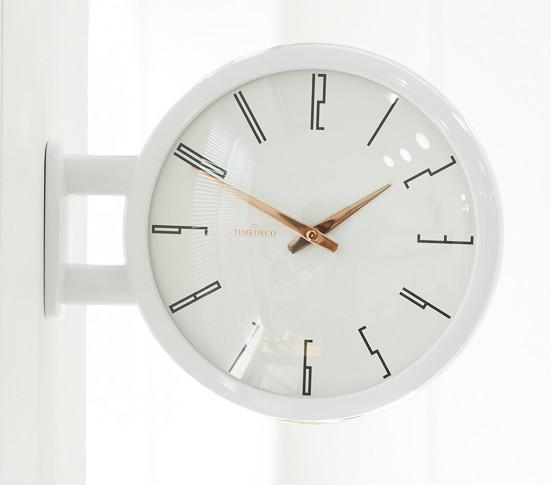 電波両面時計 誕生日プレゼント Morden Double Clock A7 WH 壁掛け時計 壁掛けとけい 掛け時計 掛時計 かけ時計 半額 壁掛け 両面 ガラス おしゃれ ブロンズ インテリア 白 韓国 静か 送料無料 静音 オシャレ 音がしない 無音 新築祝い プレゼント 銀 防音 シック