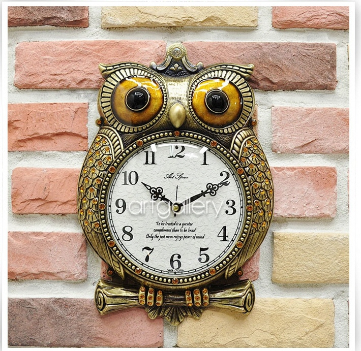 掛け時計 ふくろう a-gold掛け時計 壁掛け時計 おしゃれ 電波時計 掛時計 北欧 時計 インテリア 振り子時計