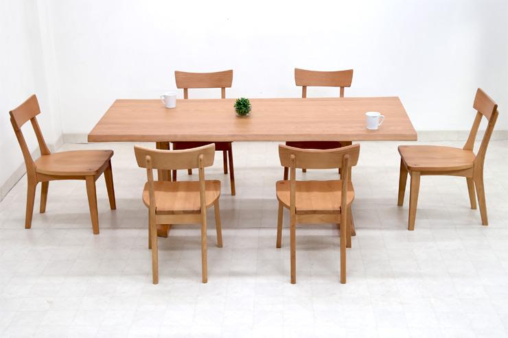 ダイニングテーブルセット 6人掛け 7点 190cm 椅子 6脚 ナチュラル オールアッシュ 無垢材 ダイニングテーブル 7点セット ダイニングセット 6人用 木製 天然木 北欧 2色対応 hida-351