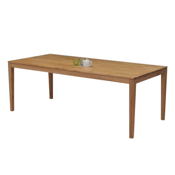 ダイニングテーブル 幅200cm 6 7 8人掛け ナチュラルオーク 木製 長方形 kapuri200-351 天然木 ウッドダイニング オーク材 組立品 長方形 シンプル 作業台 カフェ風 おしゃれ 大人数 食卓 ダイニング テーブル 机 アウトレット 9s-1k-317 roza hr