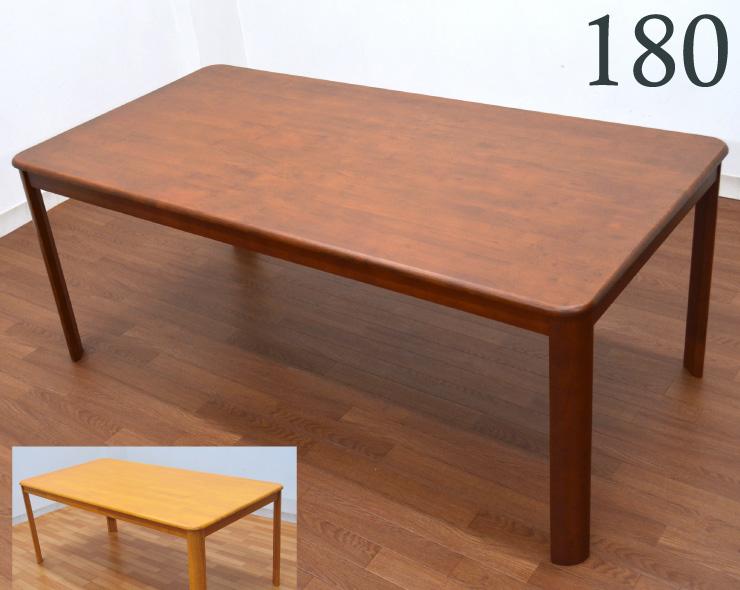【エリア限定】ダイニングテーブル 6人用 幅 180cm ell-360 ミドルブラウン ダイニング テーブル 木製 天然木 北欧 食卓 シンプル 人気 アウトレット