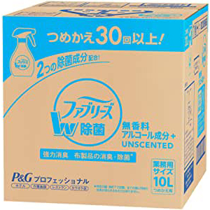 大容量10L P G ファブリーズ 消臭剤 ダブル除菌プラス 無香料 アルコール成分入り 10L つめかえ用 業務用 沖縄・離島は要別途送料120サイズcJFK1l
