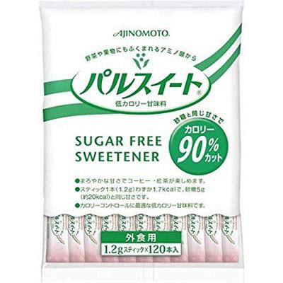 AJINOMOTO -味の素- パルスイート糖類ゼロ顆粒スティック1.2g カロリー90%オフ  120本入り×12袋 業務用 【沖縄・離島は別途中継料金】