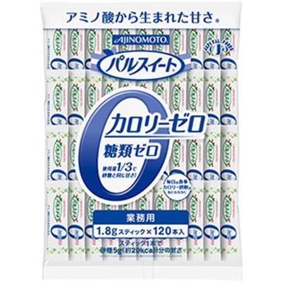 AJINOMOTO -味の素- パルスイート カロリーゼロ顆粒スティック1.8g 120本入り×12袋 業務用 【沖縄・離島は別途中継料金】