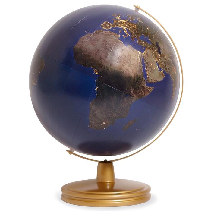 宇宙から見た夜の地球【日本製】30.5cm夜の地球儀(スチール台)