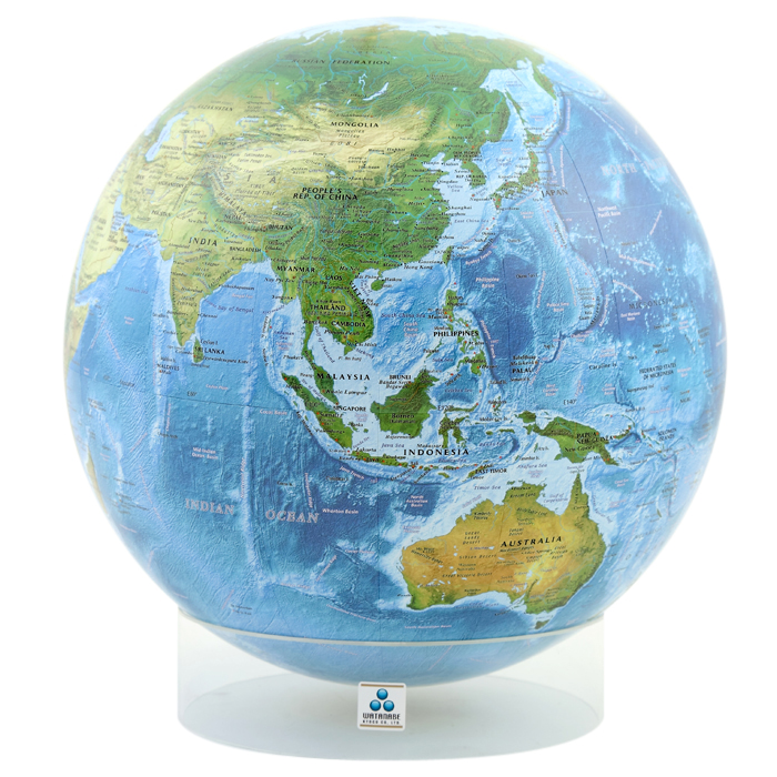 最新の地球儀をお届け!【日本製】30.5cm海洋タイプLa-Mer英文(アクリル台)