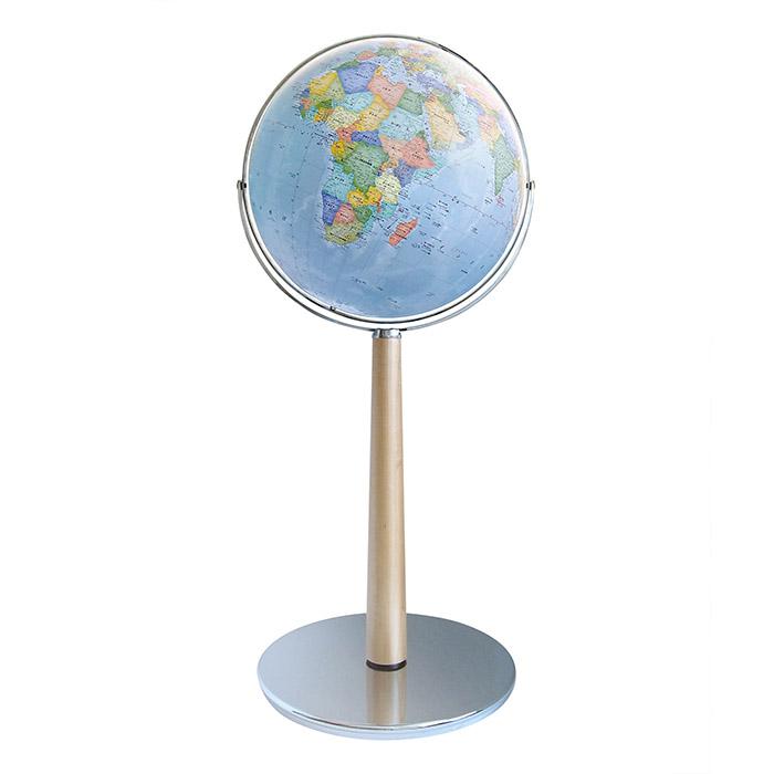 技が光る一生モノの地球儀【渡辺教具直営店/日本製】45cm大型地球儀 GC(木台)