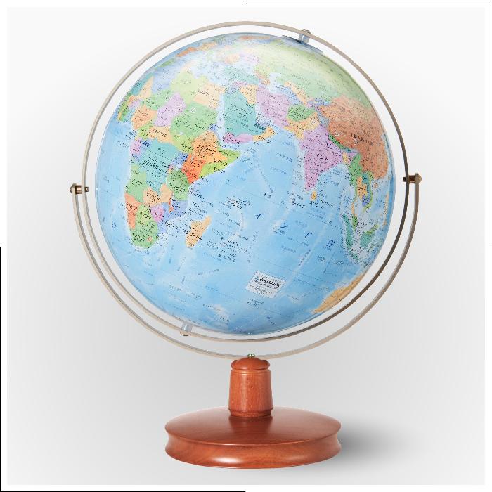 【日本製 地球儀】入学祝いに大人気地球儀!26cm 地球儀 ジェミニWE(木台)