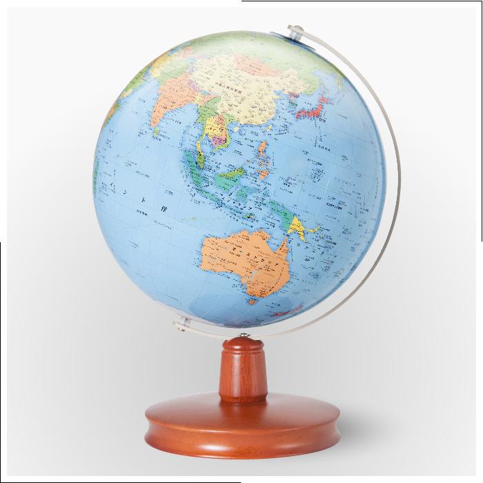 【日本製 地球儀】入学祝いに大人気地球儀!23cm 行政 地球儀 WB(木台)