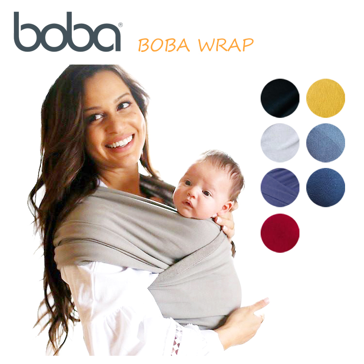 ボバラップ Boba Wrap ボバラップ Cuddle String Newborn Baby Baby Organic Bamboo Cotton Baby Carrier Sling Black Grey Navy Blue Sangria