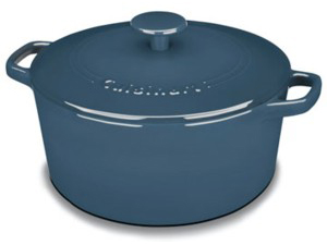 25cmラウンド キャセロール  ブルー 鋳物ホーローウェア クイジナート Cuisinart 送料無料 【532P16Jul16】