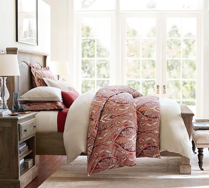 Pottery Barn ベルギー 亜麻布 リネン織 枕カバー キングサイズ