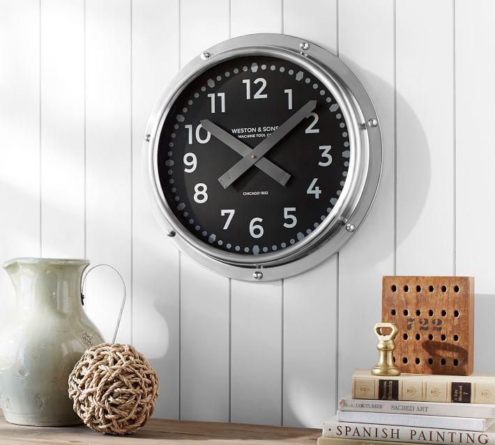 Pottery Barn teen 時計 ノーティカル ウォール クロック