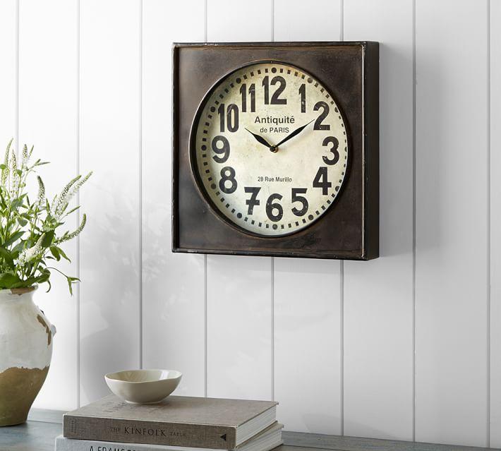 Pottery Barn teen 時計 ブロンズ ウォール クロック