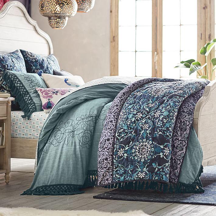 Pottery Barn teen レノン メイシー エンブロイダード(刺繍) 枕カバー スタンダードサイズ