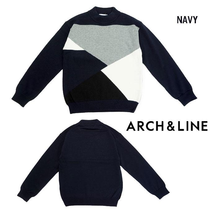 (SALE 30%OFF)ARCH&LINE(アーチアンドライン)CRAZY KNIT PO(セーター)-2202【125cm~150cm】【宅配便】