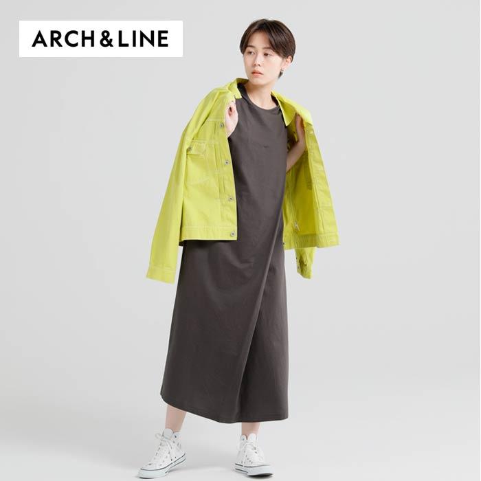 TUCK DRESS(ワンピース)-1601-1【145cm~165cm】【宅配便】 ARCH&LINE(アーチアンドライン)MAXI
