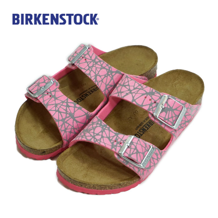 BIRKENSTOCK(ビルケンシュトック)アリゾナ キッズ サンダル ARIZONA KIDS (21~22cm)(33/34)アリゾナ リフレクティブ ラインズピンク(Reflective Lines Pink)【宅配便】
