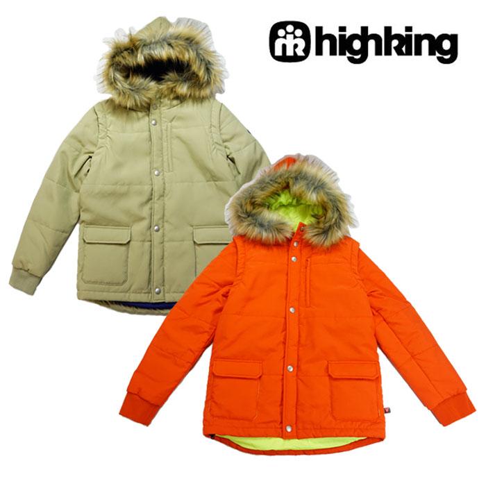 【SALE30%OFF】highking(ハイキング)crest ジャケット-0229(オレンジ・ベージュ)【110cm~160cm】【宅配便】