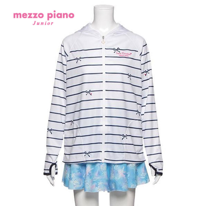 【SALE30%OFF】mezzopiano junior(メゾピアノジュニア)ボーダーラッシュガード-1603【140cm|150cm|160cm】【宅配便】