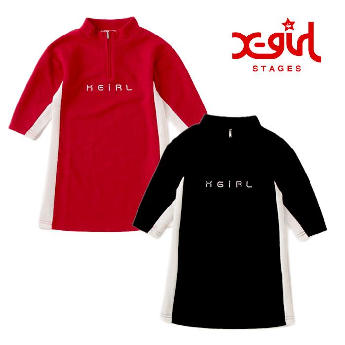 (SALE 20%OFF)X-girl Stages(エックスガールステージス)サカリバワンピース-3312【100cm~140cm】【宅配便】