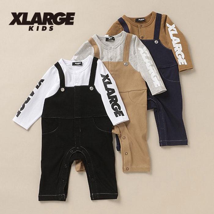 (20aw)XLARGE KIDS(エクストララージ キッズ)OGゴリラオーバーオール風ロンパース-3504【80cm】【メール便OK】