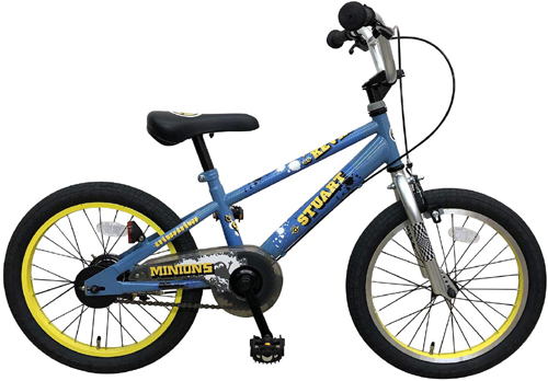 エムアンドエム ミニオンズ 自転車 18インチ 驚きの値段で 完成品 二輪車 今なら自転車カバープレゼント 子供用自転車 包装不可 MM 店舗