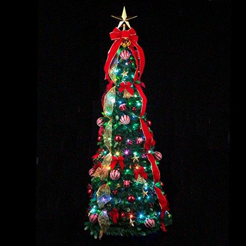 フォールディングプレゼントツリー150cm(マルチLED付) WG-6675MU【送料無料(北海道・沖縄を除く)】クリスマスにはこれ!クリスマスツリーを飾ろう♪marron