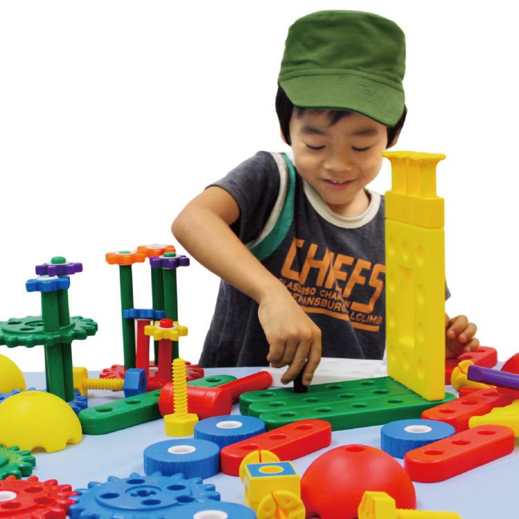 おもちゃ 知育玩具 3歳 4歳 5歳 チャイルドツール・ファクトリーブロック パーツ 立体 玩具 大きなブロック 大きめ ブロック玩具 想像力 こども 子供 子ども キッズ オモチャ 男の子 男子 男 女の子 女子 女 誕生日 プレゼント