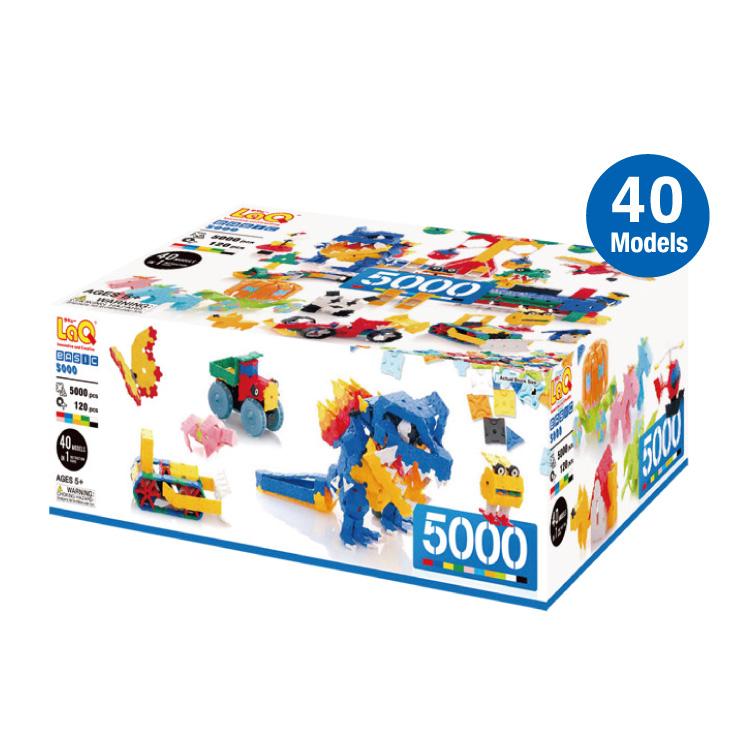知育 玩具 ラキュー ブロック 5歳から LaQ ベーシック5000おもちゃ 知育玩具 ラキューブロック ベーシックシリーズ 知育ブロック 5歳 こども 子供 子ども キッズ オモチャ 男の子 女の子 男 女 誕生日 人気 ギフト 贈り物 プレゼント