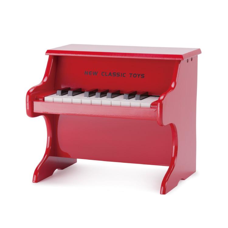 おもちゃ 楽器 ピアノ レッド/ブラックミニピアノ NEW CLASSIC TOYS ニュークラシックトイズ゙おもちゃ 楽器おもちゃ 楽器玩具 玩具楽器 音の出るおもちゃ 音 楽器 幼児玩具 キッズ こども 子供 子ども オモチャ キッズ 男の子 女の子 幼児