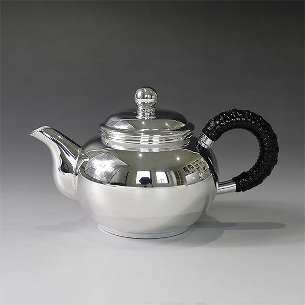 銀川堂 純銀 ウーロン茶ポット100cc 無地 重量約170g/母の日
