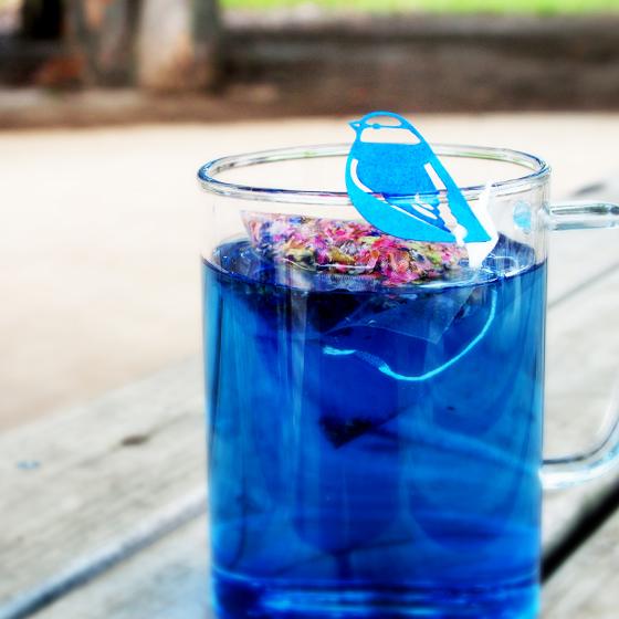 色の変わるお茶 バタフライピー ローズ SALE 薔薇 バラ ハーブ ノンカフェイン サプライズ おもしろ 青いお茶 アンチャン ティーバッグ5包 早割クーポン 花茶 蝶豆花茶 幸せの青い鳥 鳥デザイン 鳥グッズ