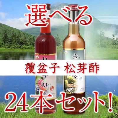 2種から好きな24本選べる☆「農本ノンボン」至高の健康ドリンクの決定版!360ml 松芽酢( マツメス ) 覆盆子( ポップンジャ ) 【02P06Aug16】